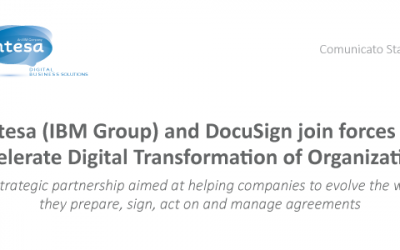 Intesa (IBM Group) and DocuSign join forces to Accelerate Digital Transformation of Organizations